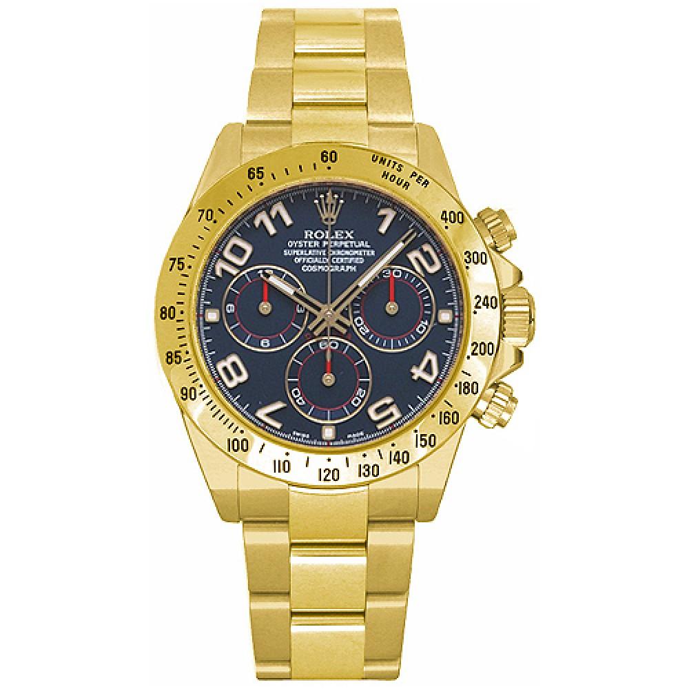 Rolex Cosmograph Daytona Blue Dial Watch 116528-BLUA
