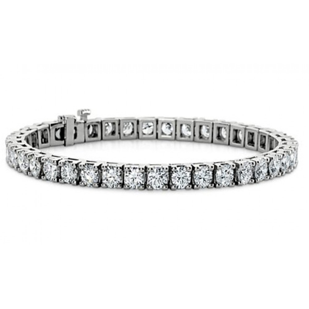 5 00 Ct Ladies Round Cut Diamond Tennis Bracelet In 14 Kt