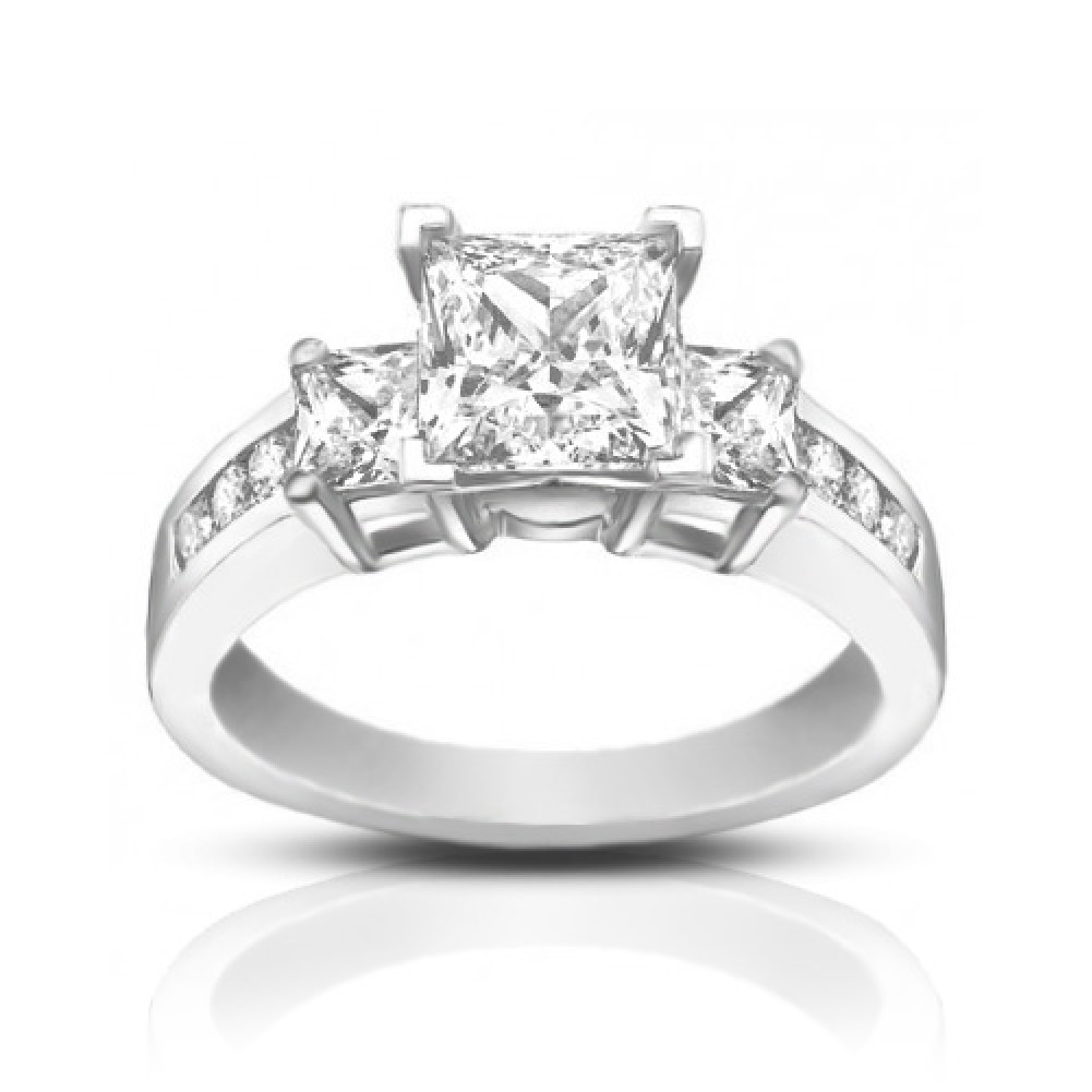1 53 ct princess cut engagement ring