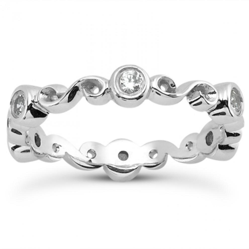 30 ct Ladies Round Cut Diamond Eternity Wedding Band Ring