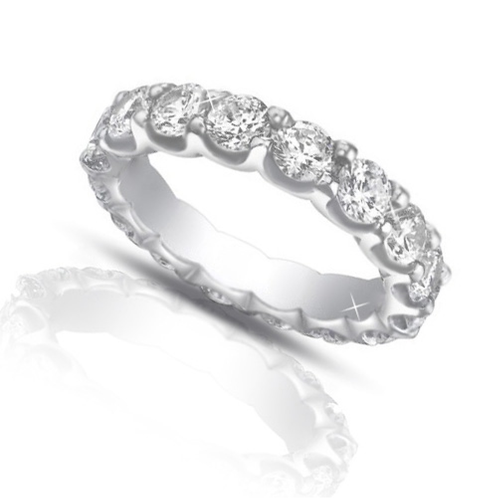 4 00 ct cut eternity wedding band ring