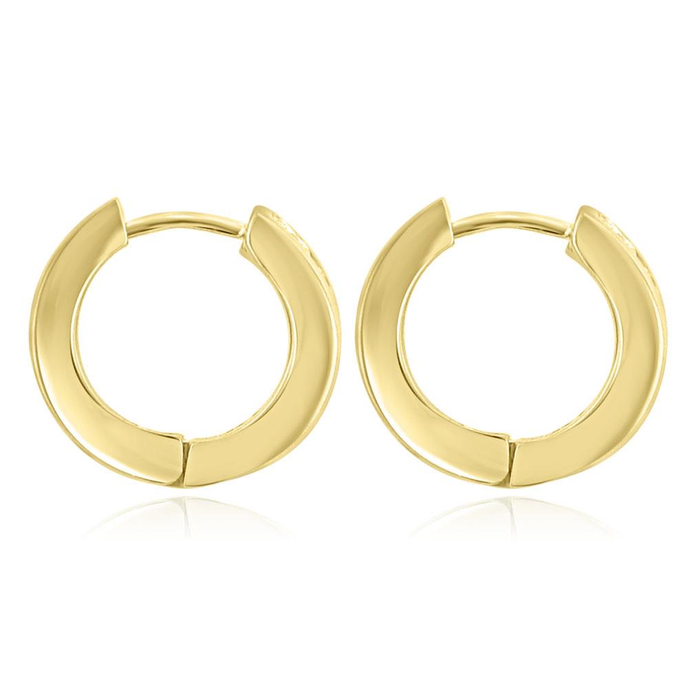 1 20 ct cut hoop huggie earrings in