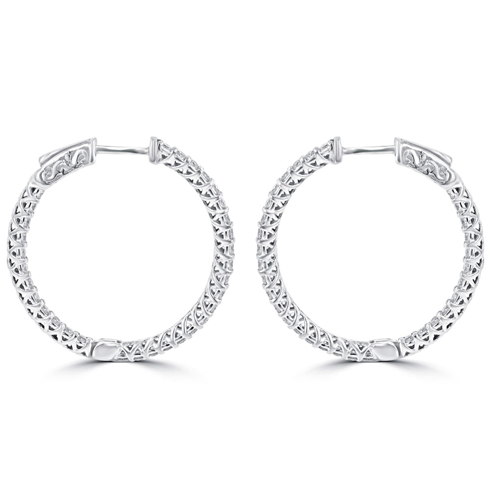 1 65 ct cut hoop earrings in 14 kt