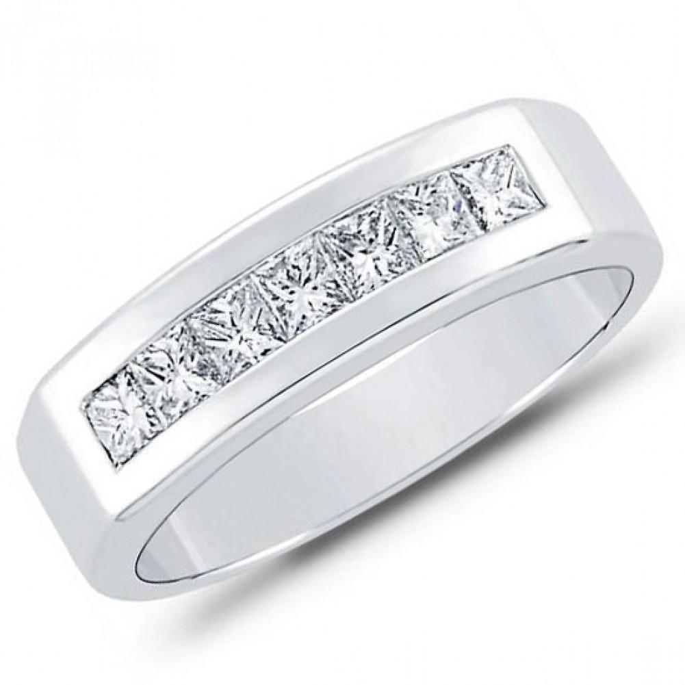 1 00 ct Men s Princess Cut Diamond Wedding Band ring
