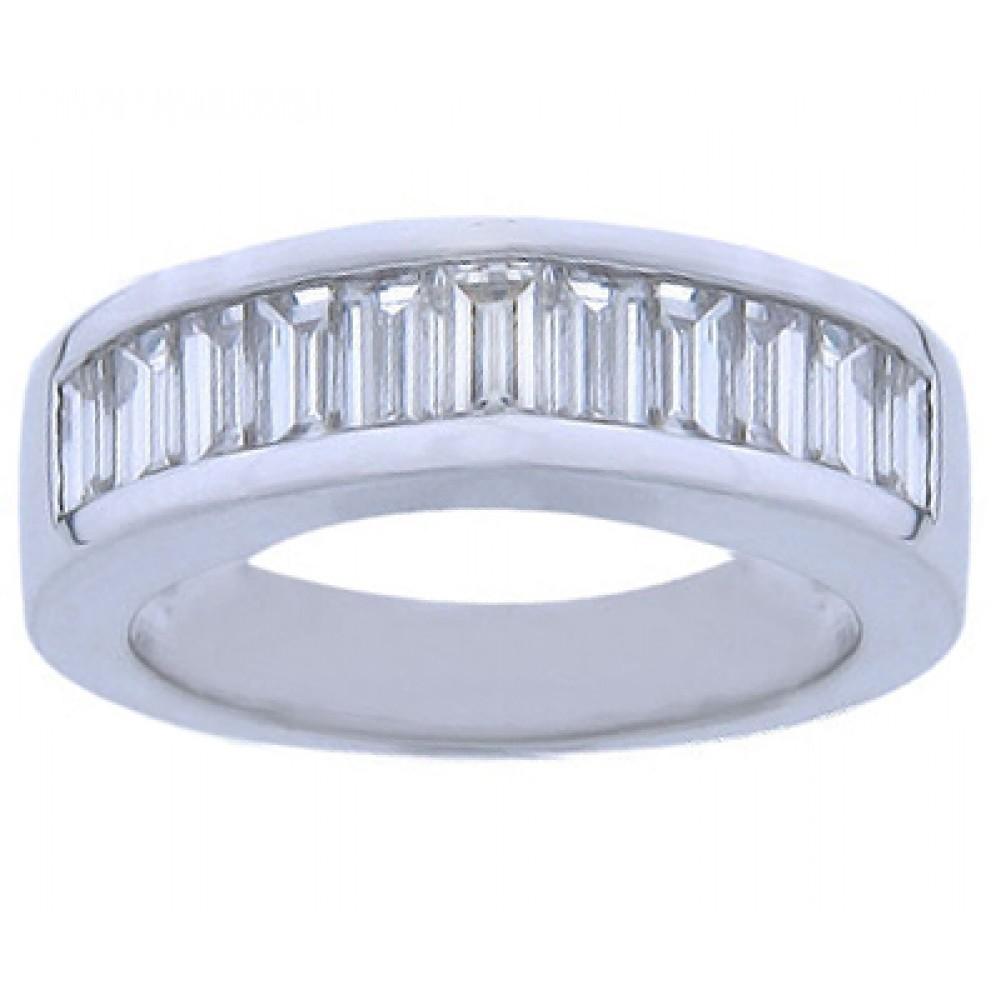 2 00 ct baguette cut wedding band ring