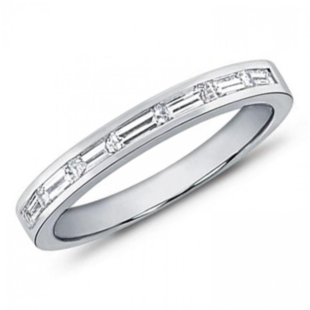 75 Ct Ladies Baguette Cut Diamond Wedding Band