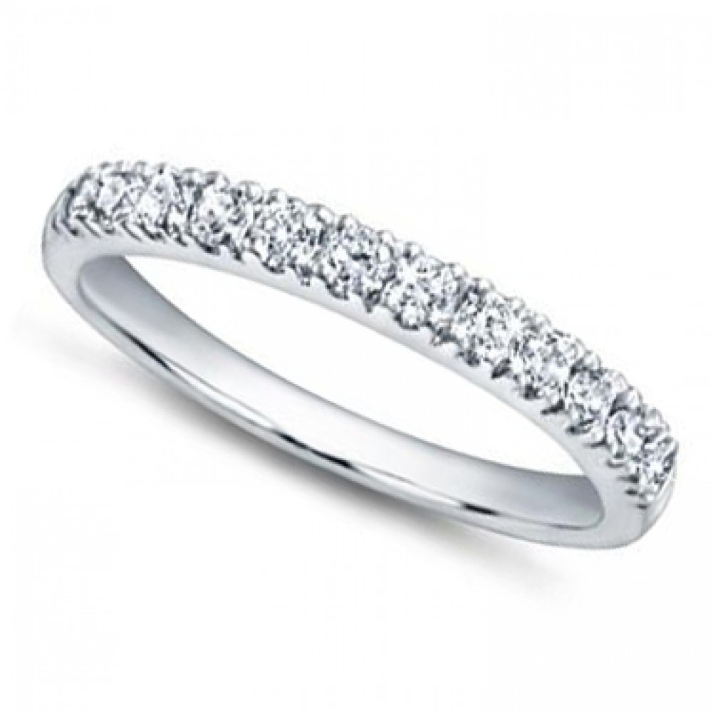 65 ct ladies pave set diamond wedding band ring