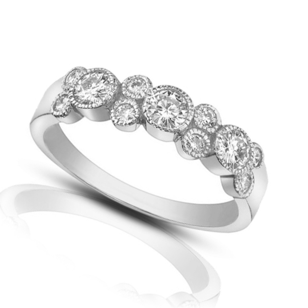 1ct Diamond Bands: 1.00 Ct Ladies Round Cut Diamond Wedding Band Ring In